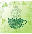 Green tea pattern background vector image vector image