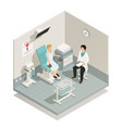gynecology isometric composition vector image vector image