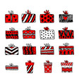 hand drawn christmas gifts and boxes vector image vector image