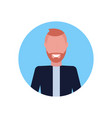 happy businessman face avatar female cartoon vector image