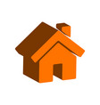 home symbol flat isometric icon or logo 3d style vector image