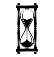 hourglass sandglass timer icon vintage vector image
