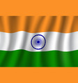 Indian flag 3d national banner of india