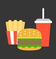junk food flat design vector image