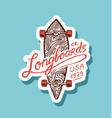 label for skateboarding urban longboard vector image vector image
