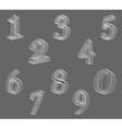 low poly numbers font Set Polygon number vector image vector image