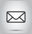 mail envelope icon in flat style receive email vector image vector image