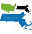 Massachusetts map vector image vector image