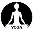 Meditating woman - yoga concept vector image vector image