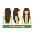 mid back length hair vector image vector image