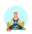 morning workout fitness happy girl in city park vector image