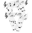 music note sheets background vector image vector image