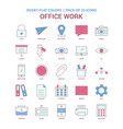 office work icon dusky flat color - vintage 25 vector image