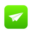 paper airplane icon digital green vector image