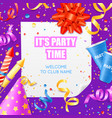 party announcement invitation festiv template vector image vector image