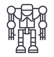 robotdroid line icon sign vector image vector image