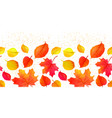 seamless bright fall autumn leaves border vector image vector image
