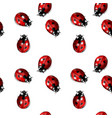 seamless graphic with ladybugs vector image