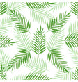 seamless pattern with green palm leaves vector image