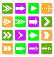 set of different arrows in the flat vector image vector image