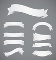 Set of White Paper Ribbons vector image vector image