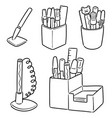 set pen and pen holder vector image vector image