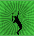 sport with tennis player vector image