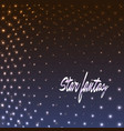 star fantasy dotted background vector image vector image