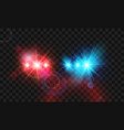 template flash red and blue light police car vector image vector image