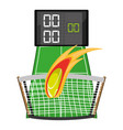tennis competition and poins game vector image vector image