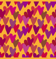 tiny little hearts seamless pattern outline vector image