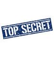 top secret square grunge stamp vector image vector image