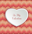 valentines day background with knitted texture and vector image