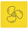 Ventilation icon Fan or propeller sign vector image