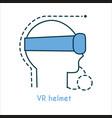 vr helmet flat icon vector image