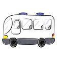 white bus on white background vector image