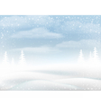 Winter snowy rural landscape vector image