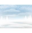 Winter snowy rural landscape vector image vector image