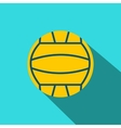 Yellow volleyball ball flat icon vector image