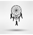 dream catcher silhouette in black color isolated vector image