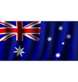 3d flag of australia national symbol vector image