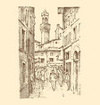 landscape in european town florence in italy vector image