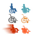 Set invalid Collection of silhouettes of various vector image