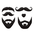 male beards and mustache barbershop templates vector image