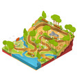3d isometric of cross section vector image vector image