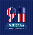 9 11 partiot day usa card vector image vector image