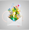an envelope with a colorful abstract vector image vector image