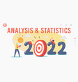 analysis and statistics landing page template vector image vector image