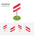 austrian flag set of 3d isometric icons vector image vector image