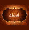 awesome diwali paisley design wallpaper vector image vector image